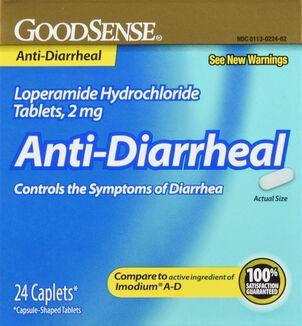 GoodSense® Loperamide HCI 2 MG Anti-Diarrheal Caplets, 24 ct