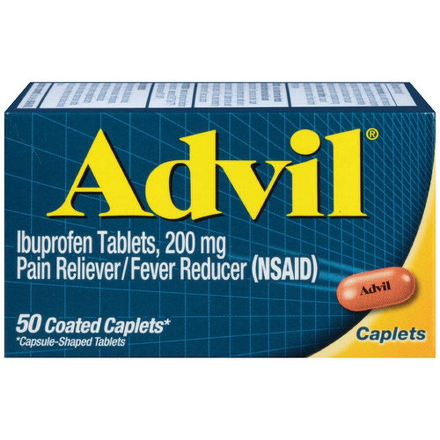 Advil Pain Reliever and Fever Reducer Coated Caplets, 200mg, , large image number 1