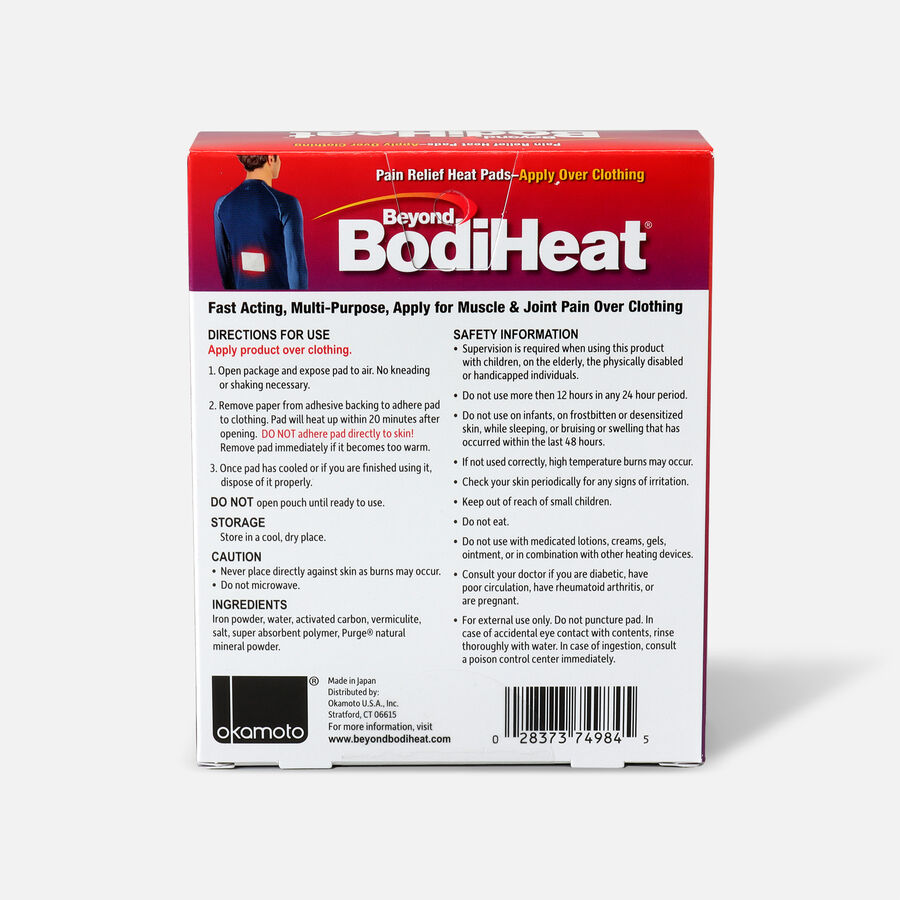 Beyond BodiHeat® Pain Relieving Heat Pads, 4 ea, , large image number 1