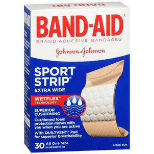 Band-Aid Sport Strip, Extra Wide, 30 ea