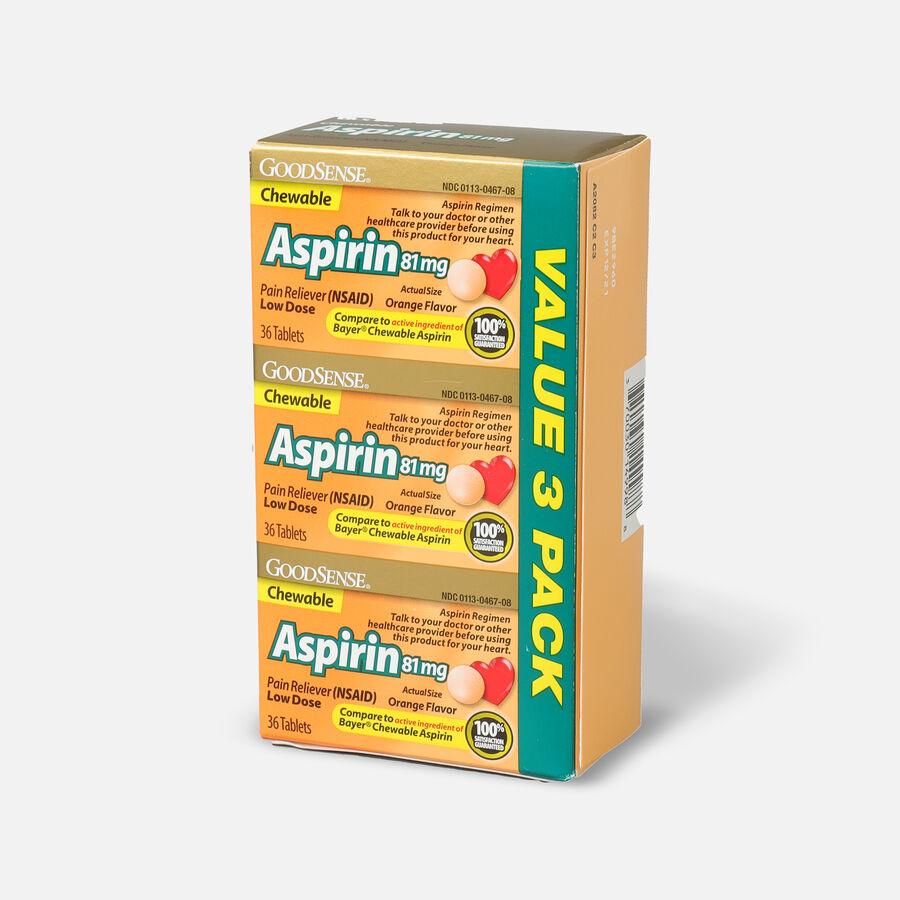 GoodSense® Aspirin 81 mg Low Dose Chewable Tablets, 3/36 ct, , large image number 2