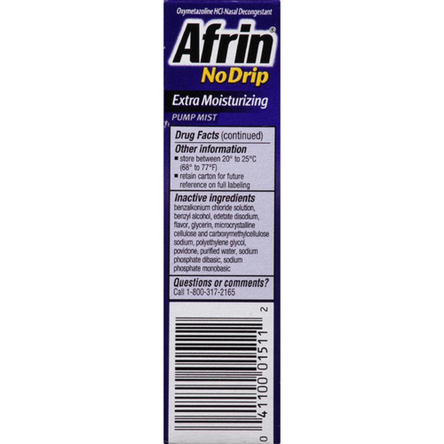 Afrin No Drip 12 Hour Pump Mist, Extra Moisturizing, .5 fl oz, , large image number 4