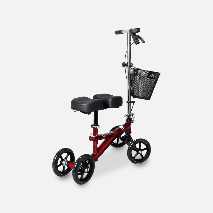 """Roscoe Knee Scooter with 8-Hole Stem Burgundy, 4 ft. 11"""" to 6 ft. 6"""" Height Range, , large image number 0"""
