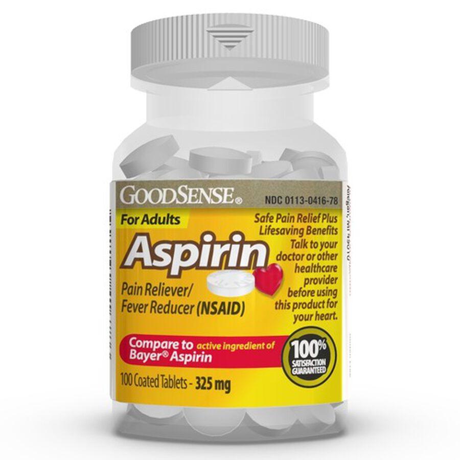 GoodSense® Aspirin 325 mg Coated Tablets, 500 Count, , large image number 0