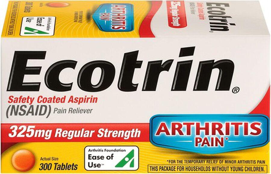 Ecotrin, Regular Strength Aspirin Tablets, 300 ct., , large image number 1