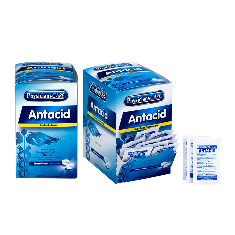 PhysiciansCare Antacid, Two boxes 50x2 tablets (shrink wrapped), , large image number 0