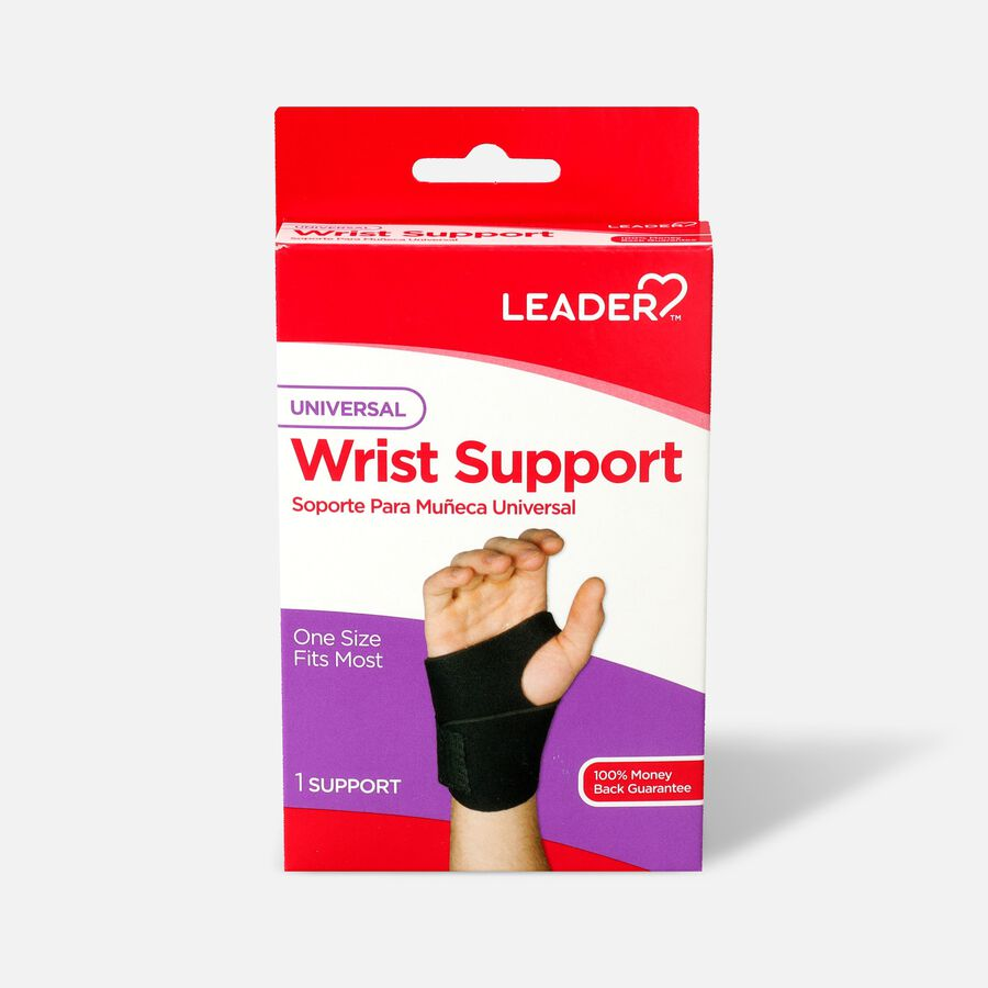 Leader Neoprene Wrist Support with Thumb Loop, OSFM, , large image number 0