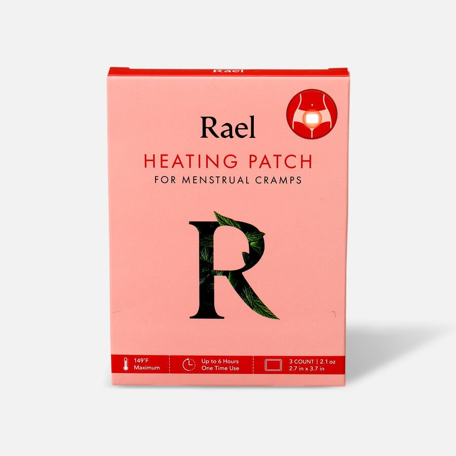 Rael Heating Patch for Menstrual Cramps, 3ct, , large image number 0