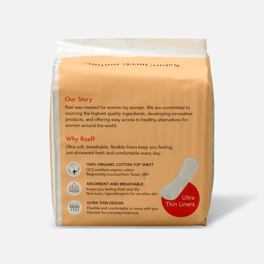 Rael Organic Cotton Cover Panty Liners - Regular, , large image number 1