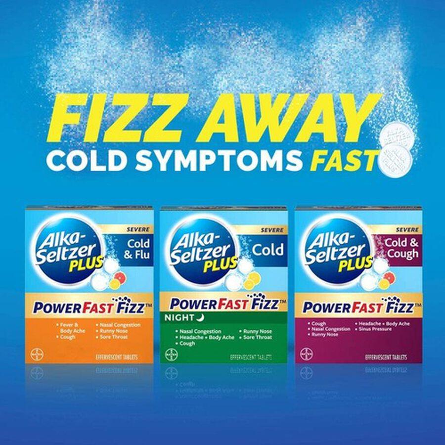 Alka-Seltzer Plus Severe Cold & Flu Powerfast Fizz Tablets, Citrus - 20 ct, , large image number 4