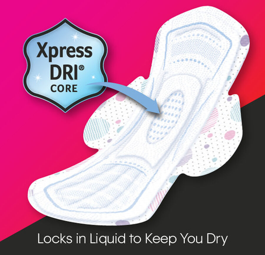 U by Kotex Super Premium Ultra Thin Overnight with Wings Teen Pad, 12ct, , large image number 3