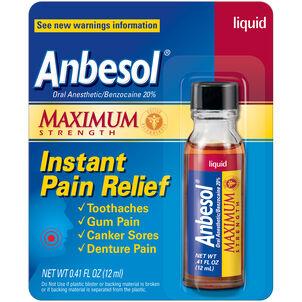 Anbesol Maximum Strength Liquid, 0.41 oz.