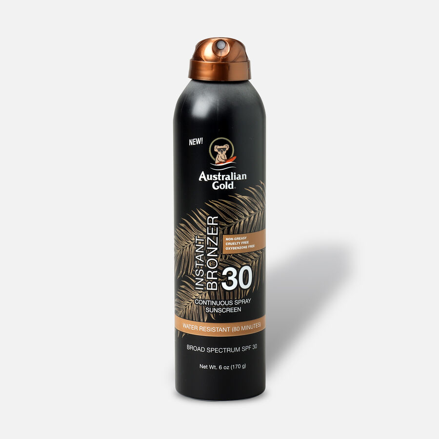 Australian Gold Continuous Spray With Instant Bronzer, SPF 30, 6oz., , large image number 0