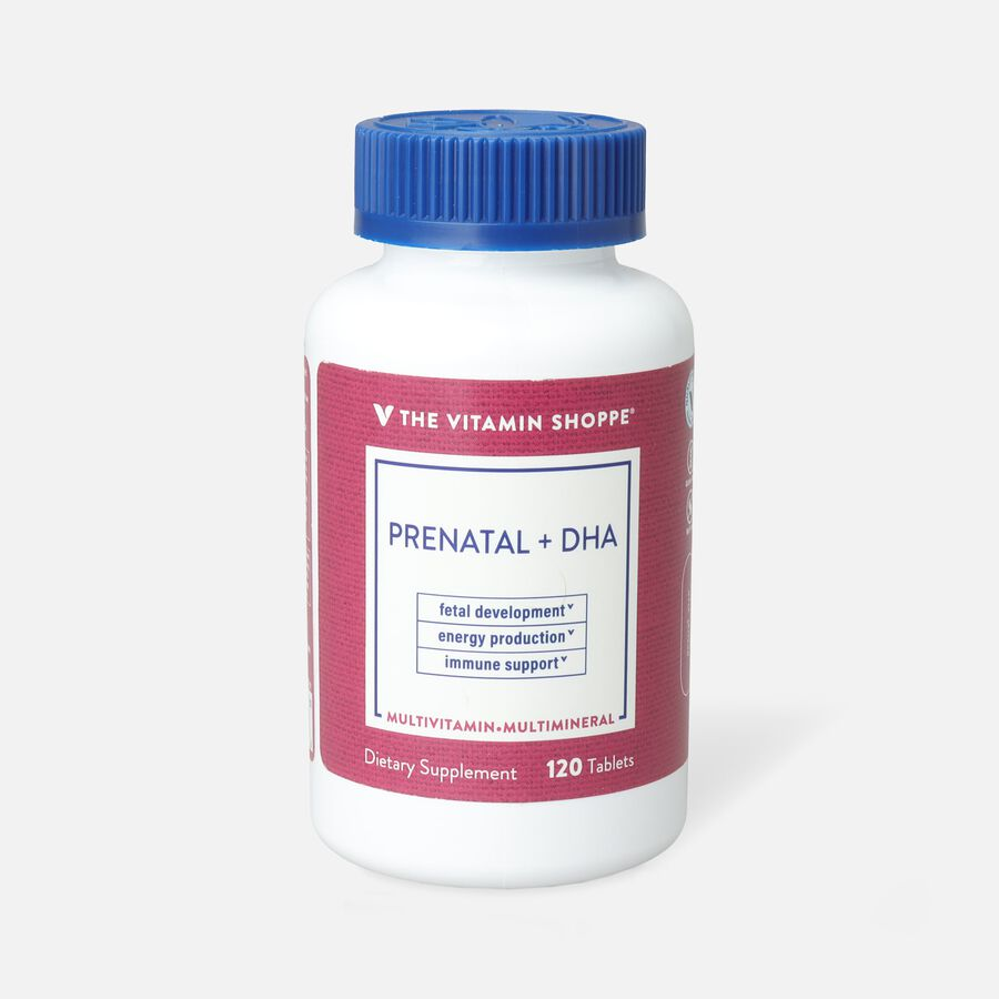 Vitamin Shoppe Prenatal + DHA Multivitamin Tablets For A Healthy Pregnancy, 120 ct, , large image number 0