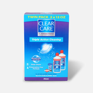 Clear Care No Rub Cleaning & Disinfecting Solution Value Pack, 24 fl oz