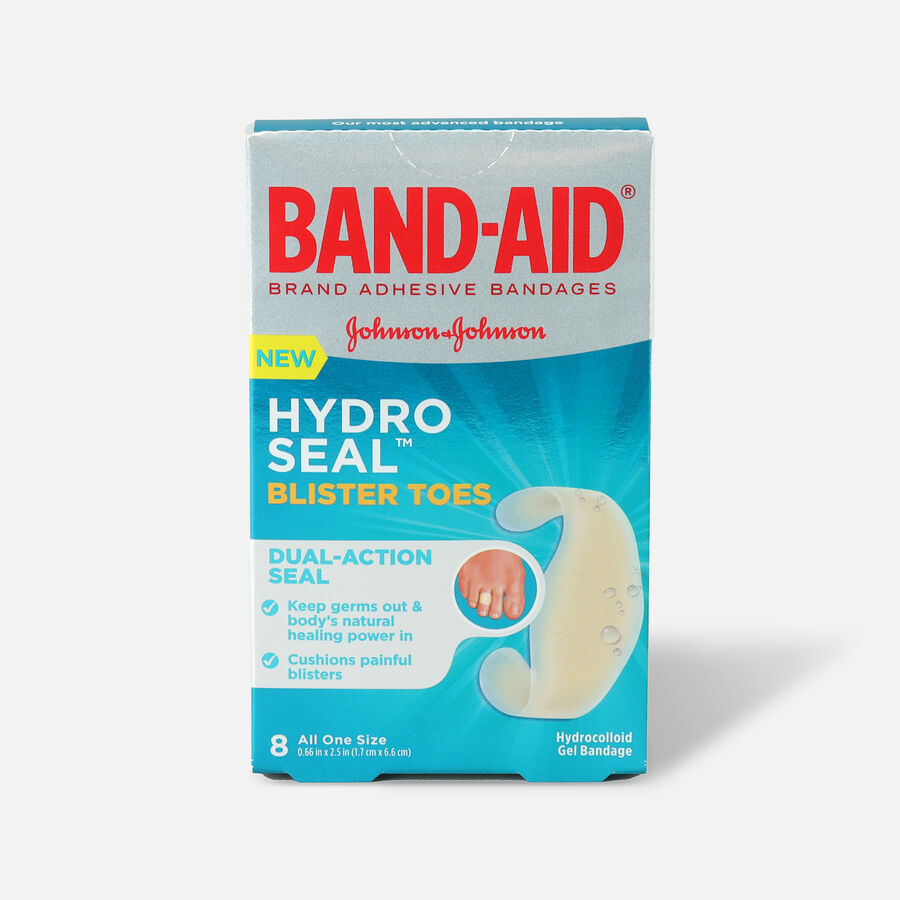 Band-Aid Hydro Seal Adhesive Blister Toe Bandages, 8 Count, , large image number 0