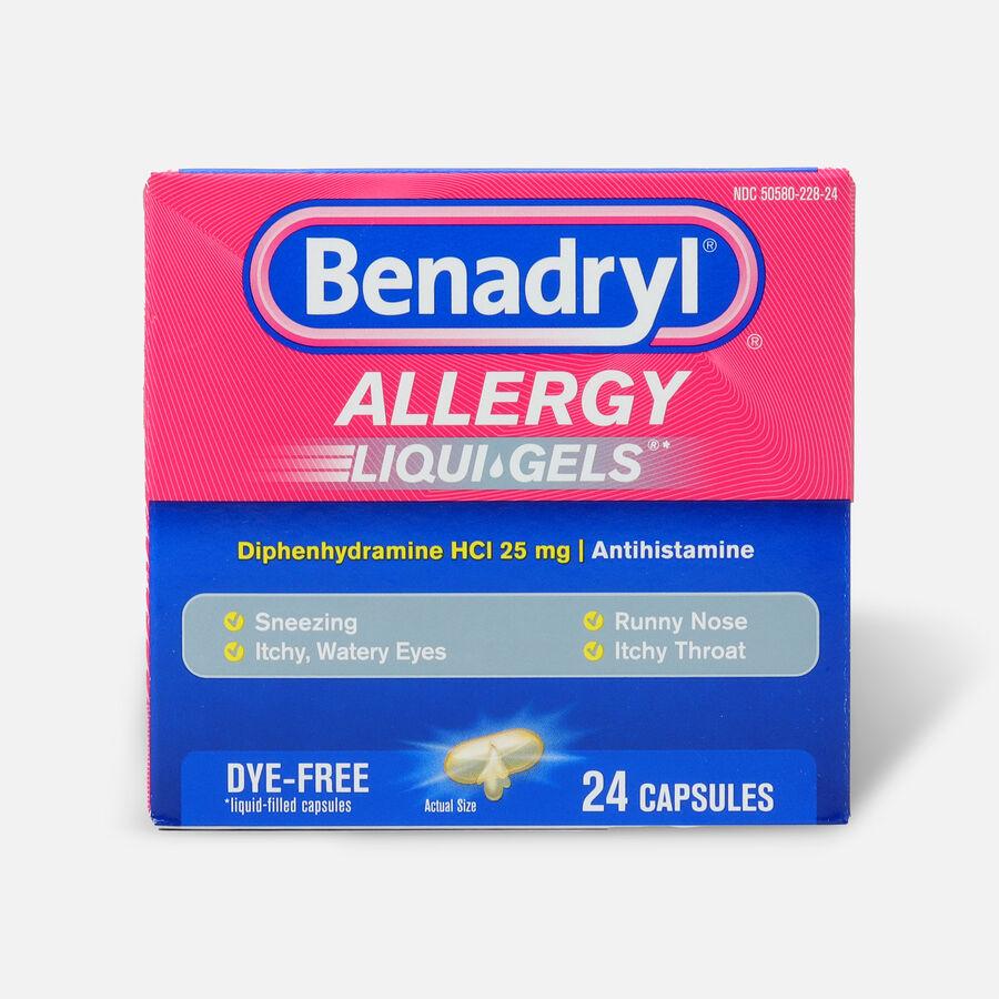 Benadryl Dye-Free Allergy Relief, Liqui-gels, 24 capsules, , large image number 0