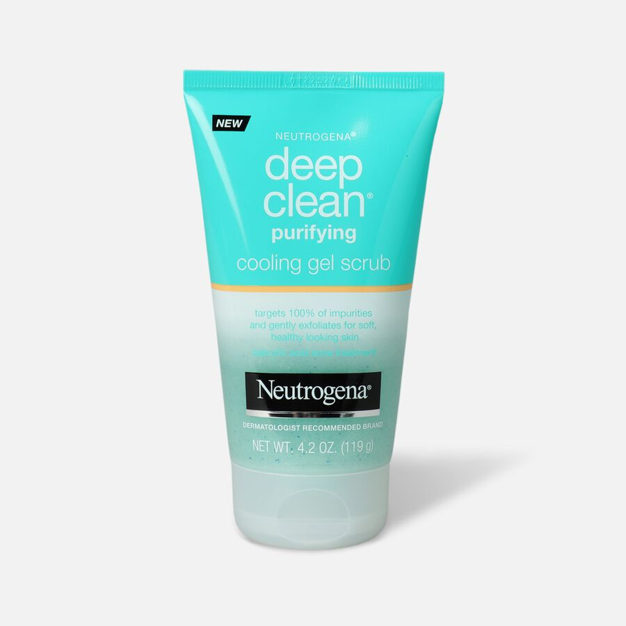 Neutrogena Deep Clean Purifying Cooling Gel Scrub, 4.2oz, , large image number 0