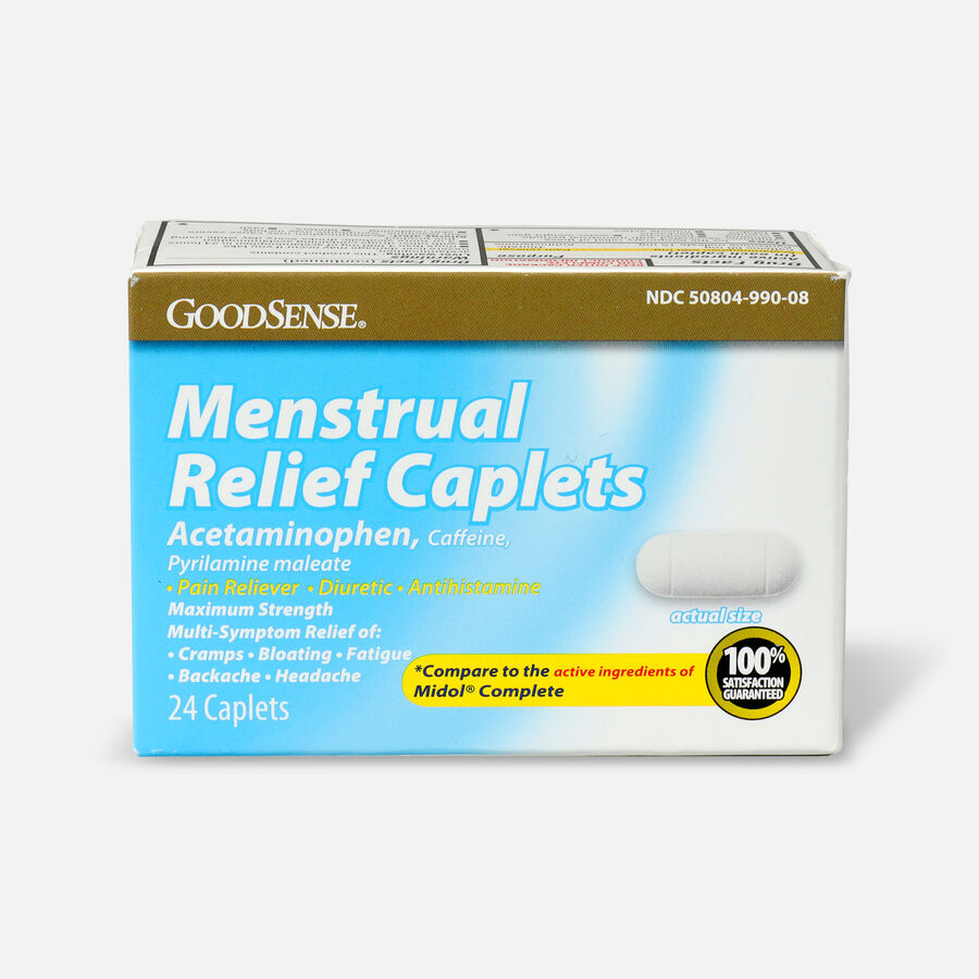 GoodSense® Menstrual Relief Caplets, 24ct, , large image number 0