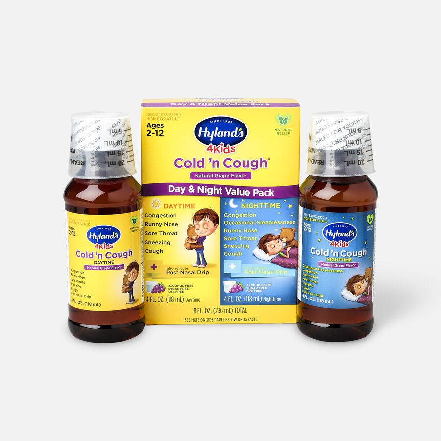 Hyland's 4 Kids Cold and Cough, Day and Night Value Pack, Grape, , large image number 1