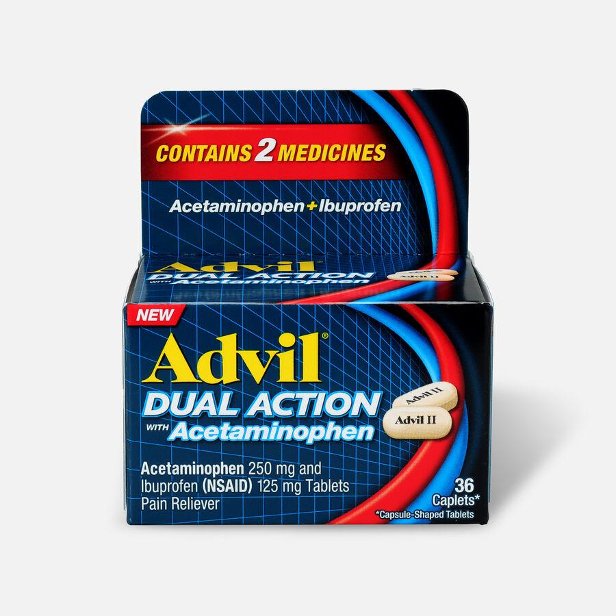Advil Dual Action Coated Tablets, Acetaminophen + Ibuprofen, , large image number 0