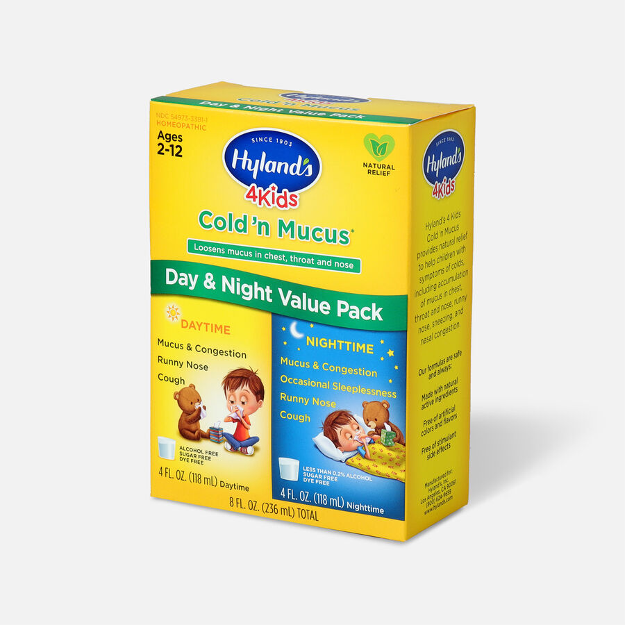 Hyland's 4 Kids Cold and Mucus, Day and Night Value Pack, , large image number 2