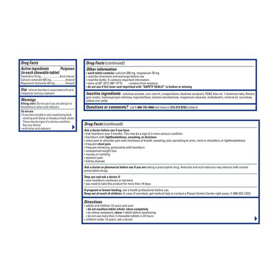 Pepcid Complete Chewable Tablets Mint, 50ct, , large image number 1