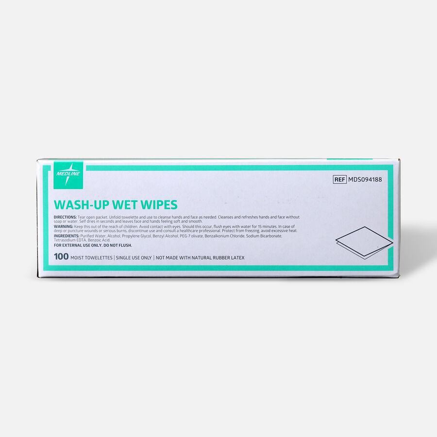 "Medline® Industries Wash-up Wet Towelettes, 5"" x 7"", Box of 100, , large image number 1"
