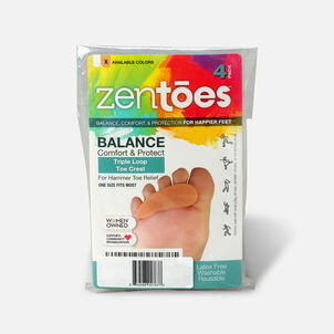 ZenToes Hammer Toe Crests with 3 Loops - 4 Pack
