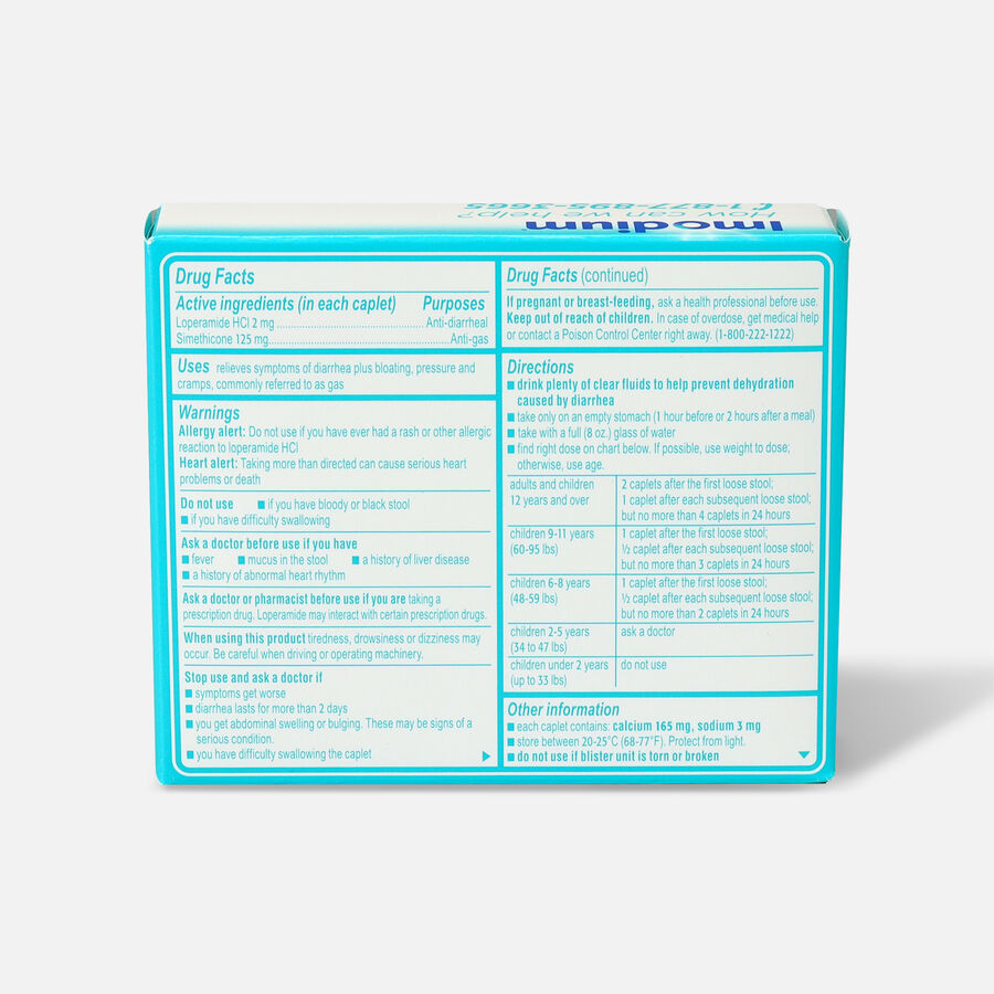 Imodium Multi-Symptom Relief Caplet, 12ct, , large image number 1