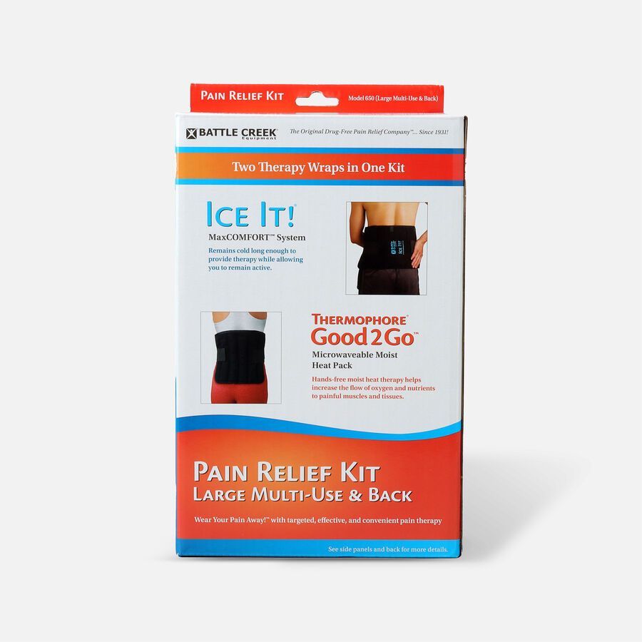 Battle Creek Back Pain Kit with Moist Heat and Cold Therapy, , large image number 0