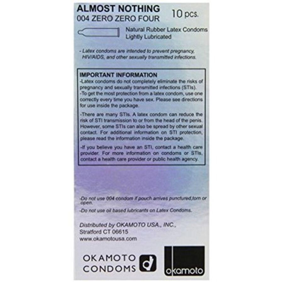 Okamoto .04 mm Zero Zero Four Condoms, 10 ct, , large image number 1