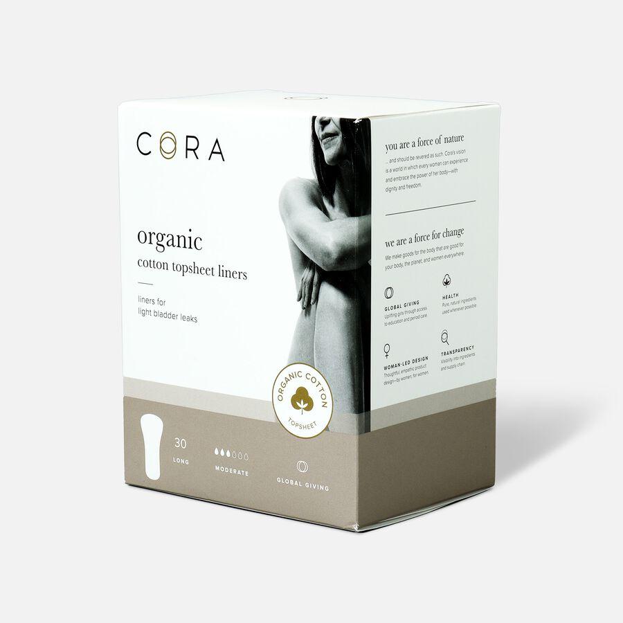 Cora Organic Cotton Topsheet Bladder Liners, Long, 30ct, , large image number 2