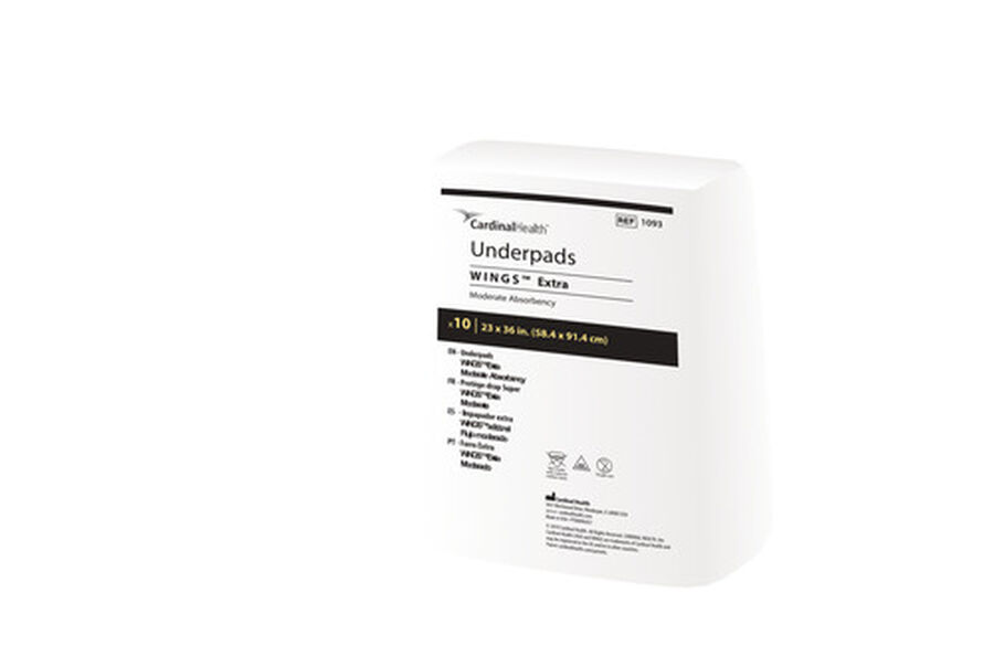 """WINGS™ Extra Underpad, 23"""" x 36"""" (58.4 cm x 91.4 cm), Moderate Absorbency-10 pack, , large image number 0"""
