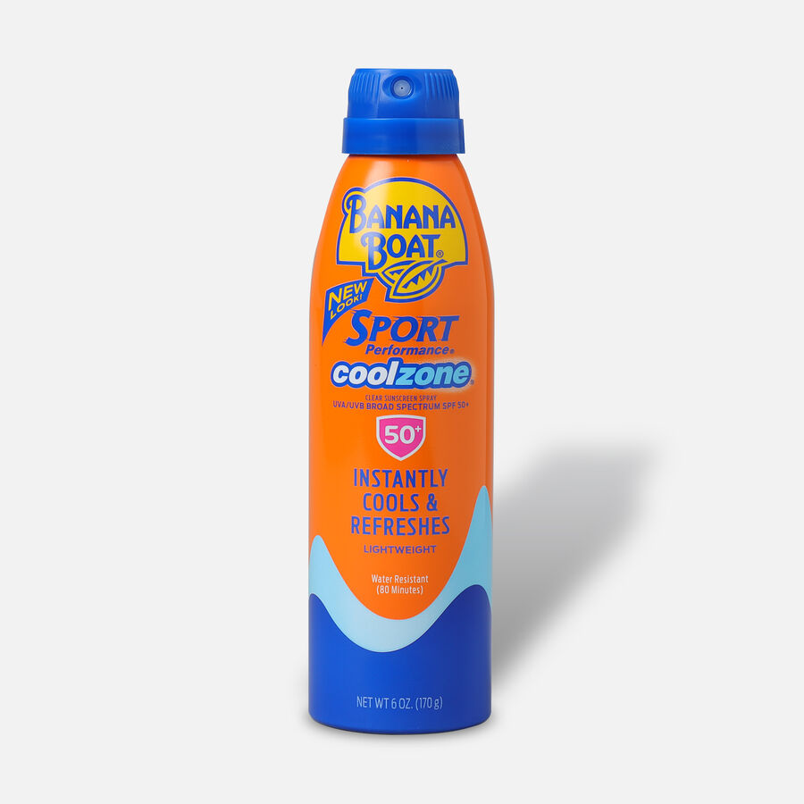 Banana Boat Sport Performance Cool Zone Continuous Spray, SPF 50, 6 oz, , large image number 0