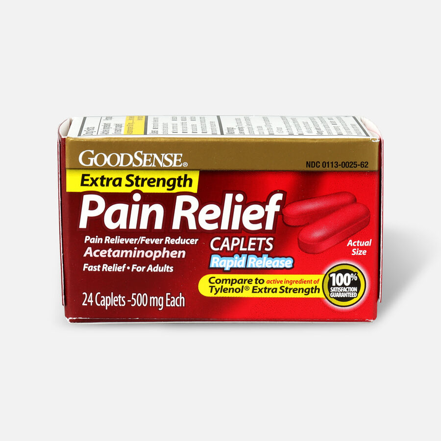 GoodSense® Pain Relief Extra Strength 500 mg Rapid Release Caplets, , large image number 1