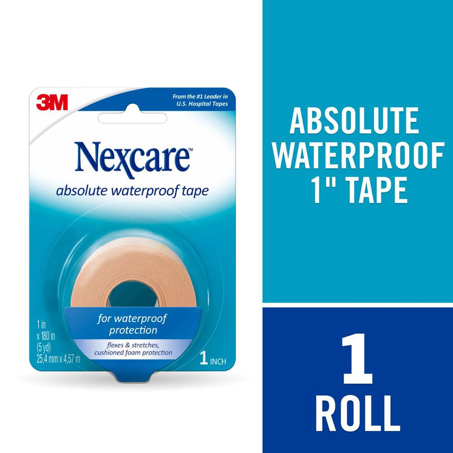 """Nexcare Absolute Waterproof Tape, 1"""" x 5 yds., , large image number 5"""