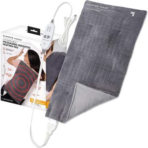 "Calming Heat Massaging Weighted Heating Pad, 12"" x 24"", 4 lbs"