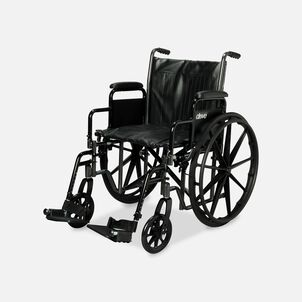 """Drive Silver Sport 2 Wheelchair, 20"""", Swing Away Footrests"""