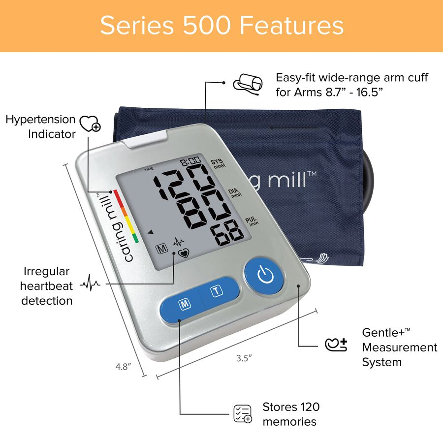 Caring Mill® Series 500 Upper Arm Blood Pressure Monitor, , large image number 3