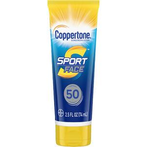 Coppertone Sport Mineral Face Sunscreen Lotion, SPF 50, 2.5 oz