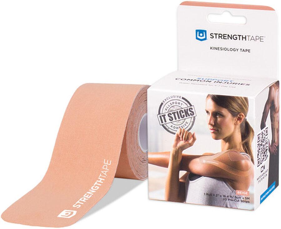 StrengthTape Kinesiology Precut Tape, Beige, 20 ct, Beige, large image number 0