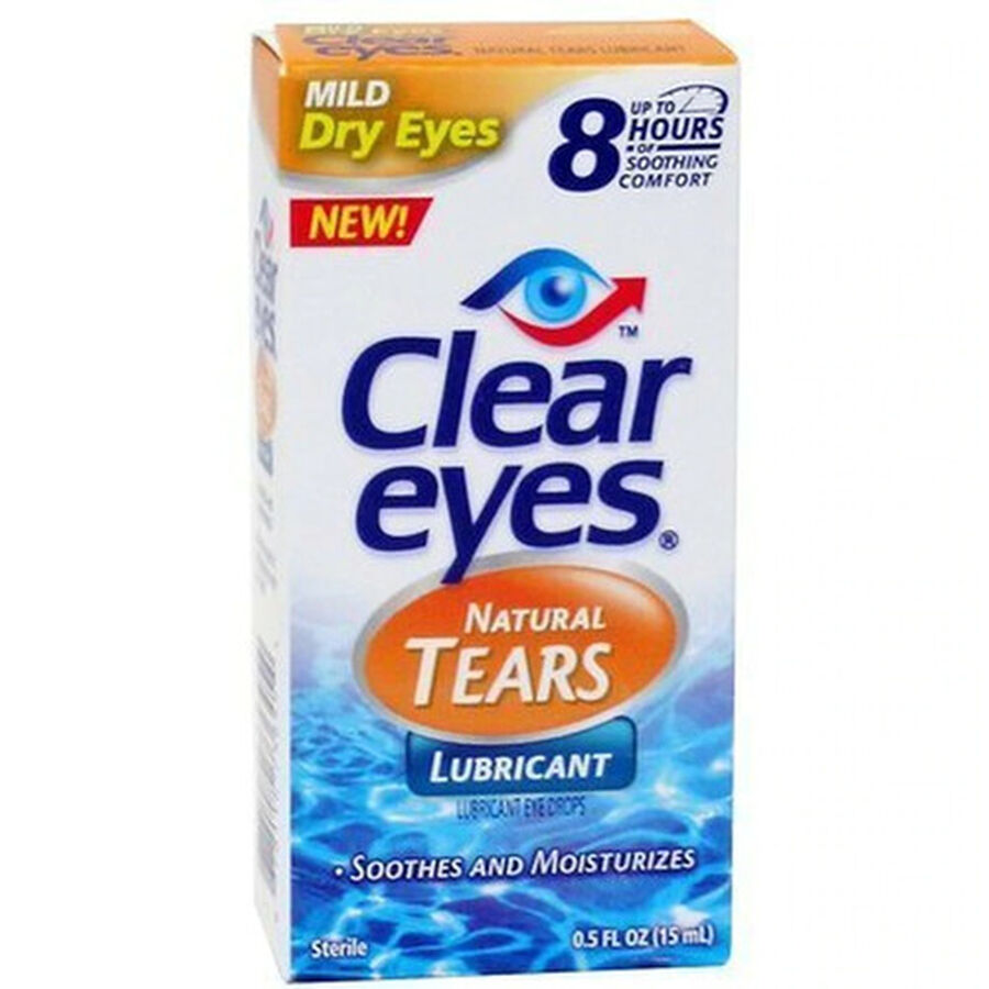 Clear Eyes Natural Tears, .5 oz, , large image number 0