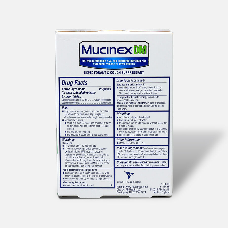Mucinex Extended Release Bi-Layer Tablets, 20 ct, , large image number 1