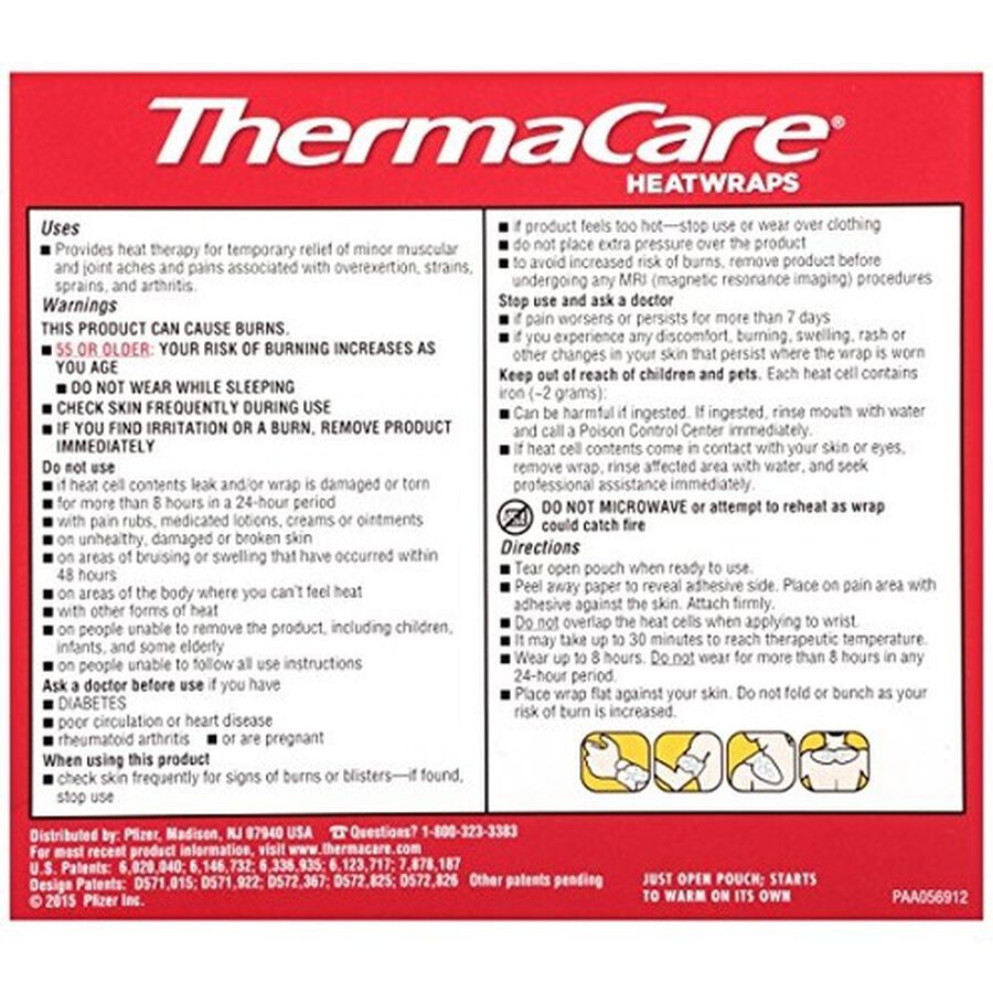 Thermacare Air Activated Heat Wraps, Neck, Wrist and Shoulder (Box of 3), , large image number 1