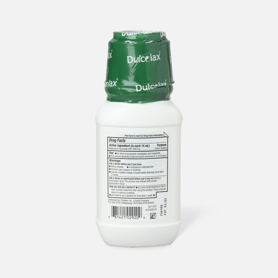 Dulcolax Liquid Laxative, Mint Flavored, 12 oz, , large image number 1