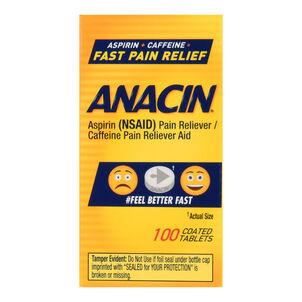 Anacin Regular Strength Aspirin Tablets, 100 count