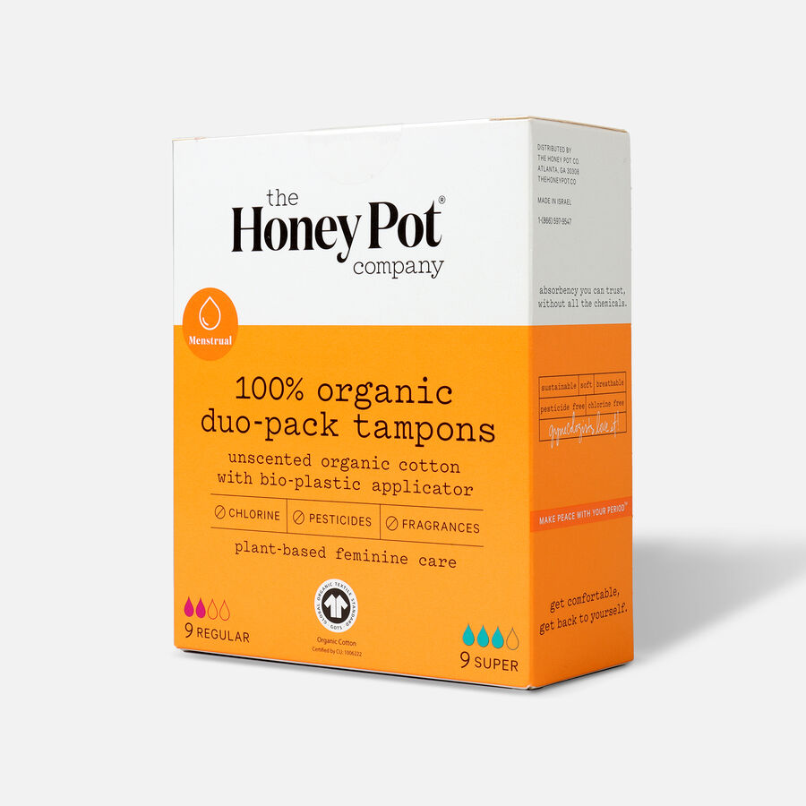 The Honey Pot Organic Tampons, 18ct, , large image number 5