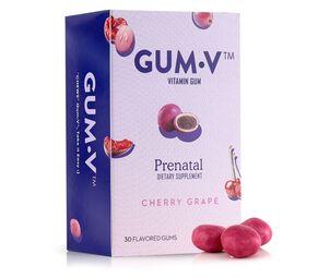 Zahler Gum-V Prenatal Gum, Kosher, 30 Cherry-Grape Flavored Gums