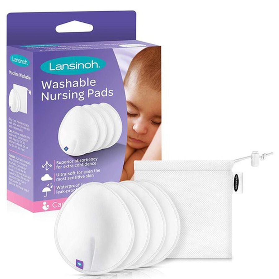 Lansinoh Washable Nursing Pads, 4 ct, , large image number 0